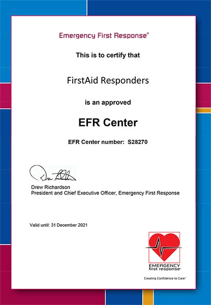 Accredited Emergency First Response Training Center